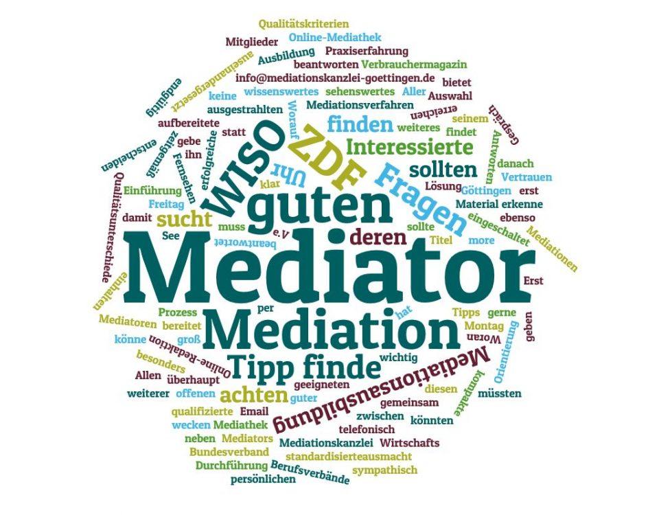 Was ist ein guter Mediator und wie erkenne ich einen guten Mediator?