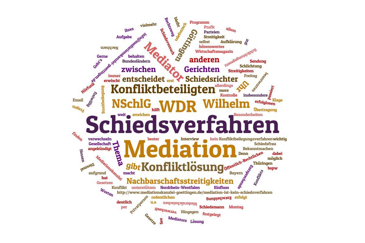 Unterschied zwischen Mediation und Schiedsverfahren