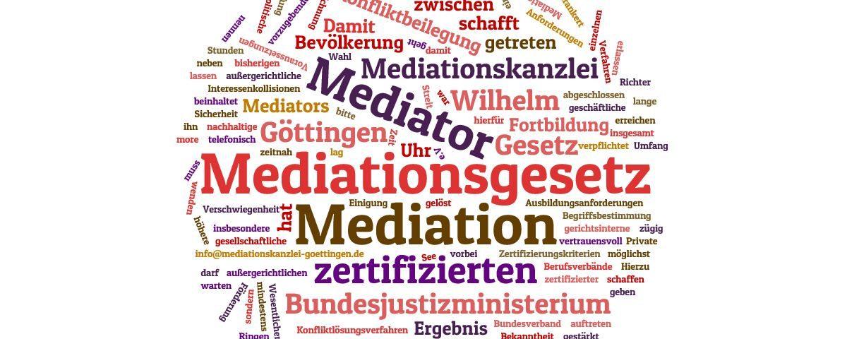 Das Mediationsgesetz ist 2012 in Kraft getreten
