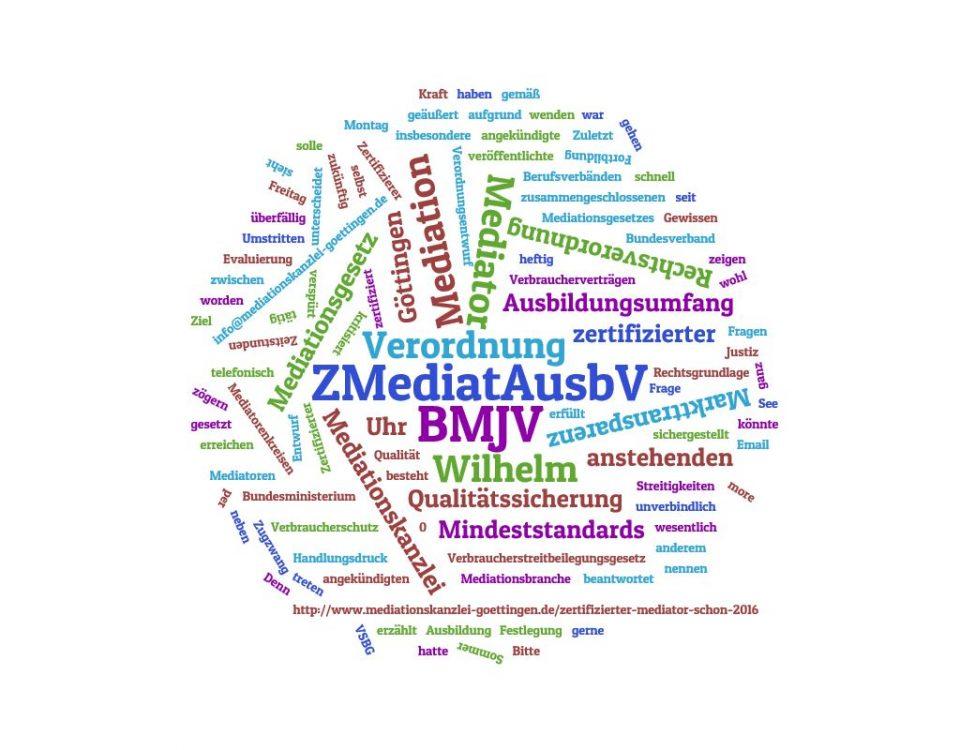 Kommt Zertifizierte-Mediatoren-Ausbildungs-Verordnung, ZMediatAusbV, noch 2016?