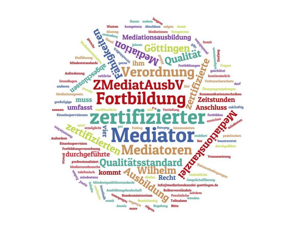 Die Verordnung zur Regelung der Aus- und Fortbildung für Mediatoren veröffentlicht